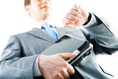Homme d'affaires avec ordinateur portable — Photo