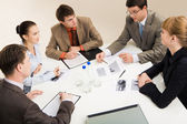 Working in group — Stock Photo