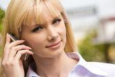 Calling female — Stock Photo
