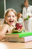 Happy schoolgirl — Stock Photo