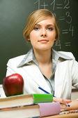 Smart teacher — Stock Photo