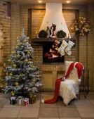 Christmas room — Stock Photo