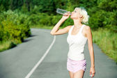 Drink on hot day — Stock Photo