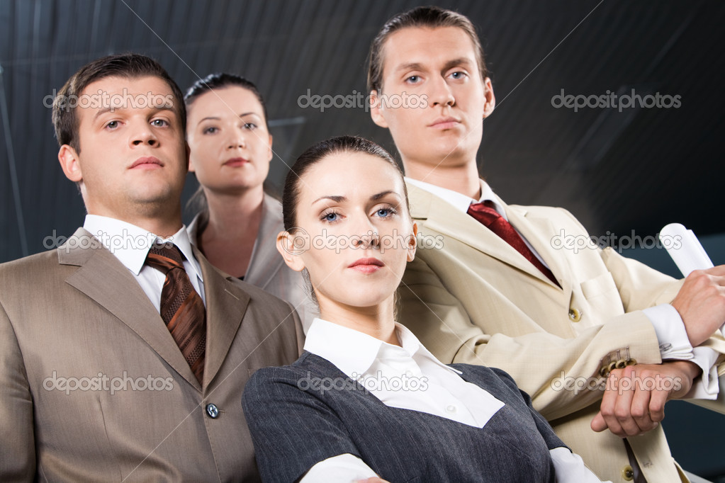 Portrait of confident business looking at camera — Stock Photo #10718460