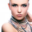 Beauty and pearls - Stock Photo