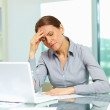 Stressed and tired — Stock Photo