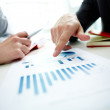 Pointing at chart — Stock Photo
