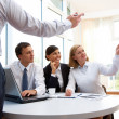 Stock Photo: Businesspeople at meeting