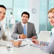 Business team in office — Stock Photo #10731496