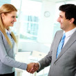 Handshaking associates — Stock Photo