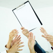 Reaching out for paper — Stock Photo