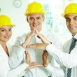 Stock Photo: House constructors