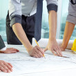 Architect's teamwork — Stock Photo