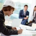Working engineer — Stock Photo