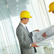 Discussing blueprint — Stock Photo #10731965