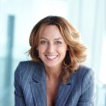 Joyful businesswoman — Stock Photo