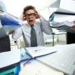 Shocked bookkeeper - Stock Photo