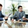 Stock Photo: Business conversation