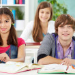 Stock Photo: Students at college