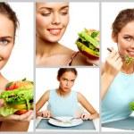 Young vegetarian — Stock Photo