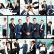 Business collage - Foto Stock