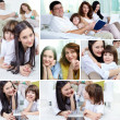 Family indoors — Stock Photo