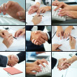 Stock Photo: Business hands