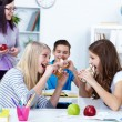 Stock Photo: Hungry students