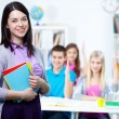 Happy teacher — Stock Photo