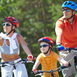Stock Photo: Riding on bicycles
