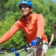 Bicyclists in park — Stock Photo