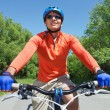 Stock Photo: Male on bicycle