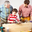 Young carpenter - Stockfoto