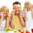 Playful family - Foto Stock