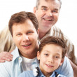 Three men — Stock Photo