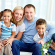 Family at home — Stock Photo #10733481