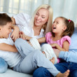 Playful family — Stock Photo