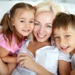 Stock Photo: Mother and kids