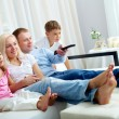 Watching television — Stockfoto