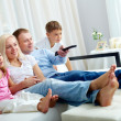 Foto Stock: Watching television