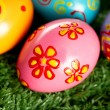 Bright Easter eggs - Stock Photo