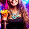 Stock Photo: Girl in night club
