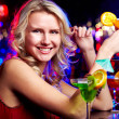 Happy girl with cocktail — Stock Photo