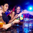 Friends in bar — Stock Photo #10734053