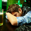 Stock Photo: Sleeping in pub
