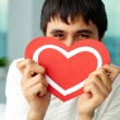 Stock Photo: Showing heart