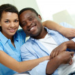 African couple — Foto Stock