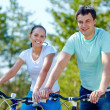 Couple of cyclists — Stock Photo