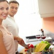 Cooking dinner — Stock Photo