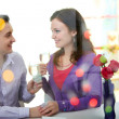 Stock Photo: Valentines in restaurant